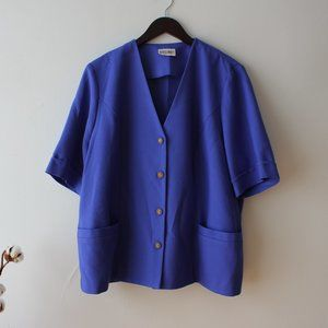 Vintage Purple Blue Blazer